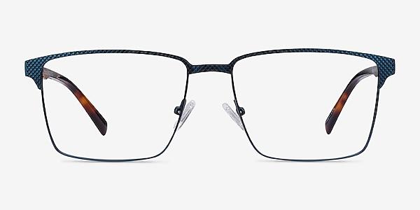 Douglas Blue Metal Eyeglass Frames