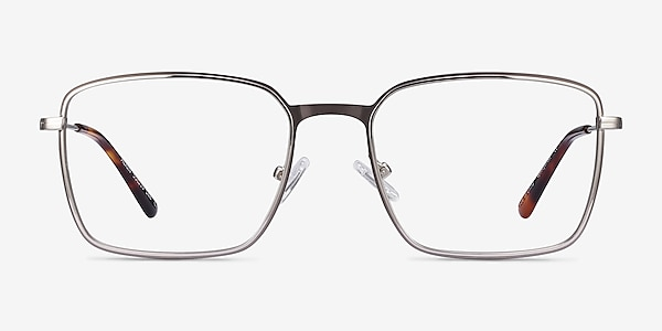 Align Gunmetal & Silver Metal Eyeglass Frames