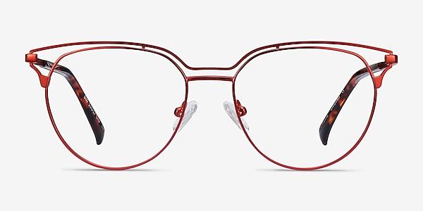 Gia Red Metal Eyeglass Frames
