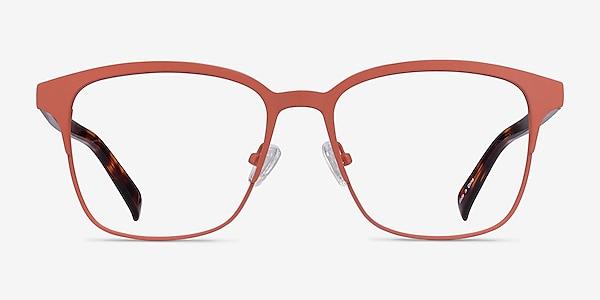 Intense Coral & Tortoise Acetate-metal Eyeglass Frames