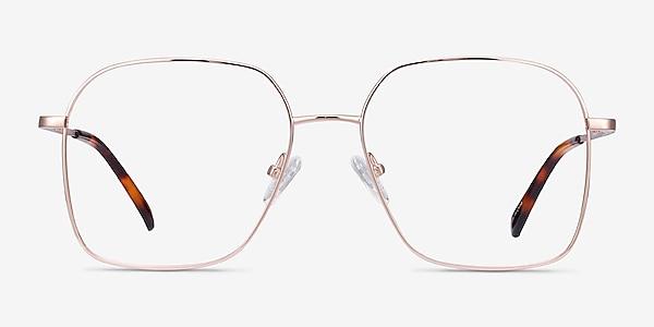 Roman Rose Gold Métal Montures de lunettes de vue