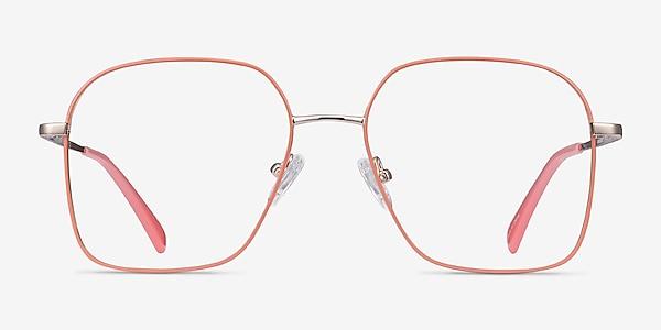 Arty Coral & Gold Métal Montures de lunettes de vue