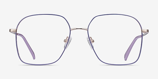 Arty Purple & Gold Metal Eyeglass Frames
