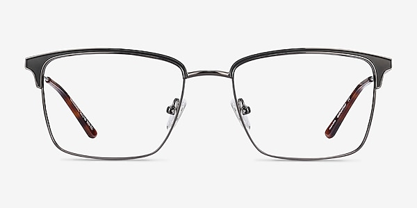 Nathaniel Black Metal Eyeglass Frames