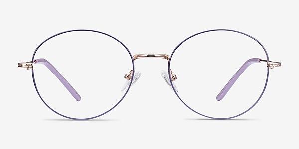 Arbus Purple & Gold Metal Eyeglass Frames