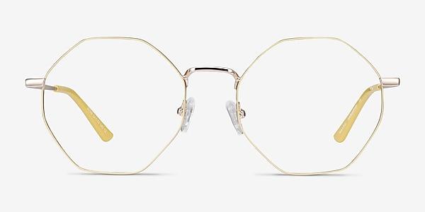 Altar Yellow & Gold Metal Eyeglass Frames