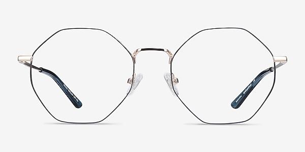 Altar Navy & Gold Metal Eyeglass Frames