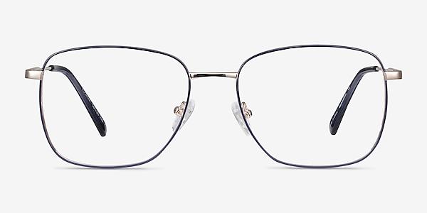 Kusama Navy & Gold Metal Eyeglass Frames