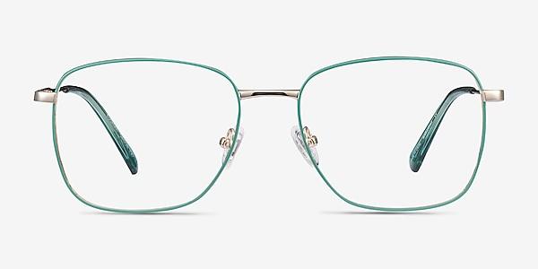 Kusama Green & Gold Metal Eyeglass Frames