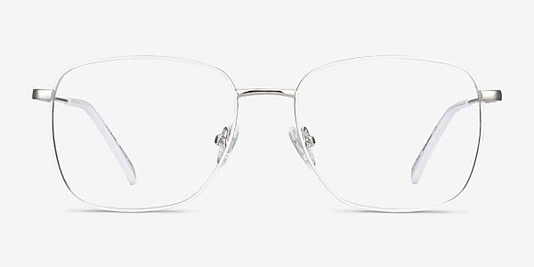 Kusama White & Silver Metal Eyeglass Frames