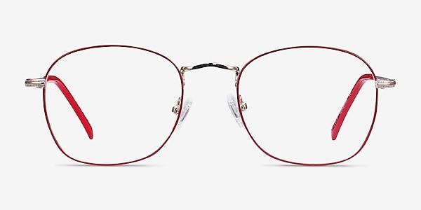 Keith Red & Gold Metal Eyeglass Frames