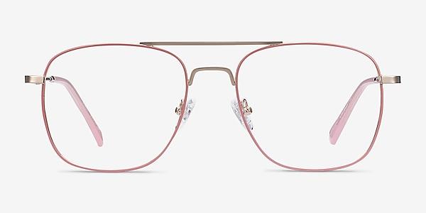 Perry Pink & Rose Gold Metal Eyeglass Frames