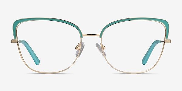 Marina Aqua Gold Metal Eyeglass Frames