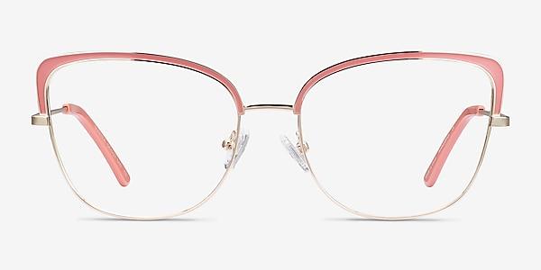 Marina Coral & Gold Metal Eyeglass Frames