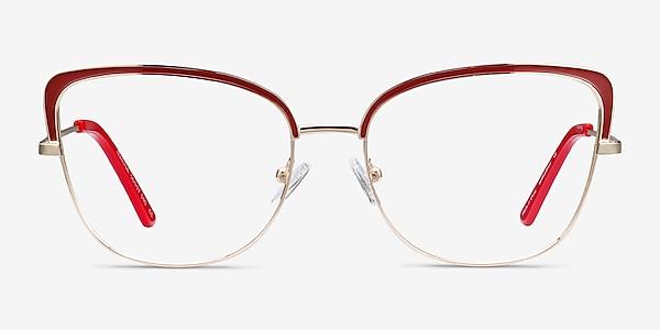 Marina Red & Gold Métal Montures de lunettes de vue