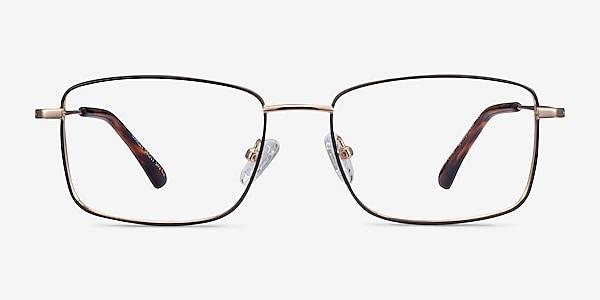 Marley Black Gold Metal Eyeglass Frames