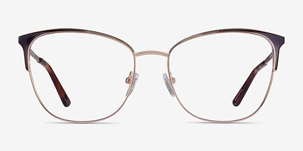 Kelsey Navy Rose Gold Metal Eyeglass Frames