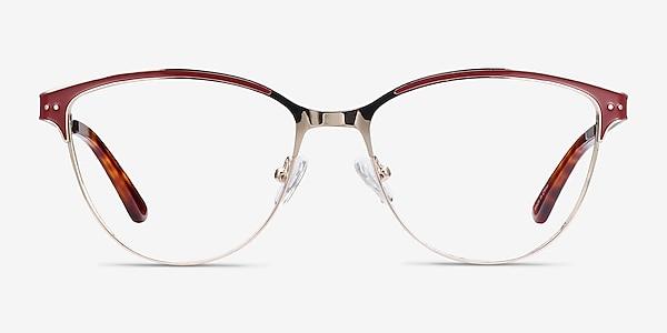 Rosa Red & Gold Metal Eyeglass Frames