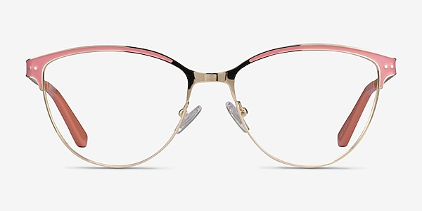 Rosa Gold Pink Metal Eyeglass Frames