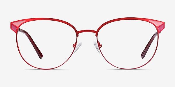 Niki Rouge Métal Montures de lunettes de vue
