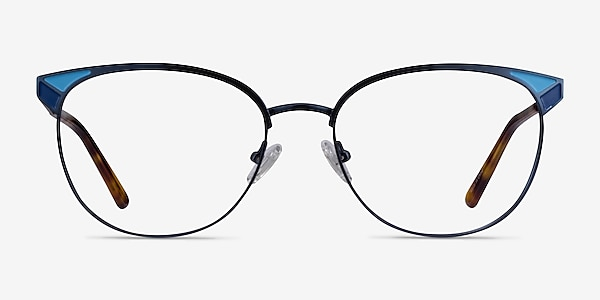 Niki Blue Metal Eyeglass Frames