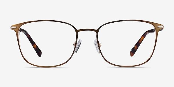 River Bronze & Gold Acetate-metal Montures de lunettes de vue
