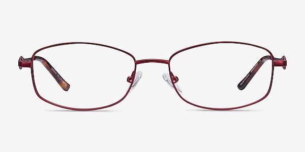 Maggie Burgundy Métal Montures de lunettes de vue
