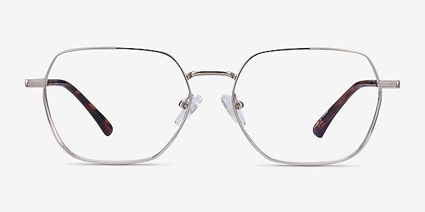 Marlow Silver Metal Eyeglass Frames