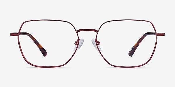 Marlow Red Metal Eyeglass Frames