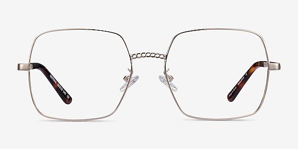 Bettina Silver Metal Eyeglass Frames