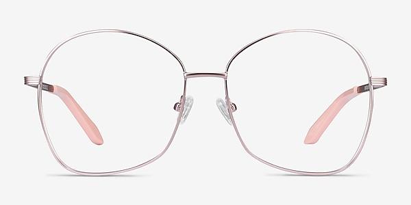 Bridget Pink Metal Eyeglass Frames