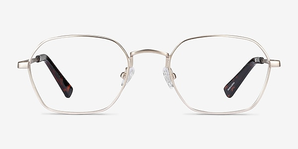 Space Gold Metal Eyeglass Frames