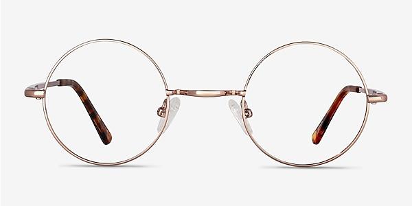 Abazam Rose Gold Metal Eyeglass Frames