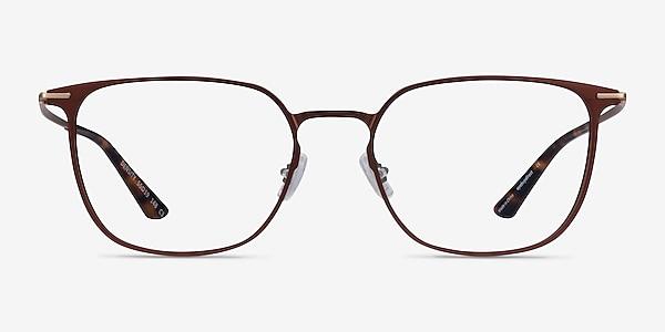 Density Brown & Gold Aluminium-alloy Montures de lunettes de vue