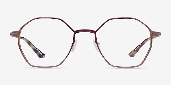 Alloy Brown & Gunmetal Aluminium-alloy Eyeglass Frames