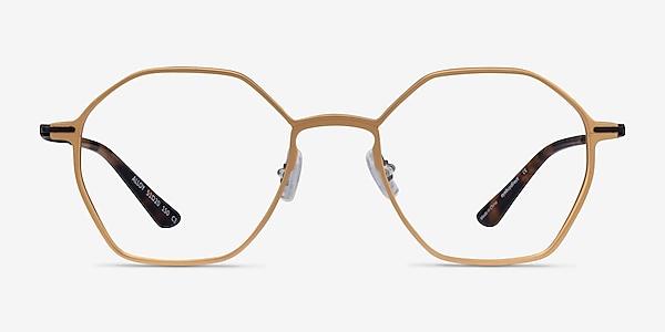 Alloy Gold & Black Aluminium-alloy Eyeglass Frames