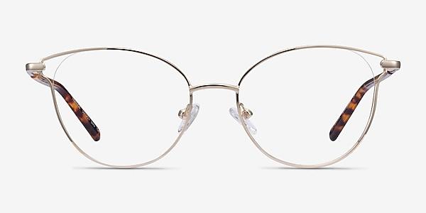 Trance Light Gold Métal Montures de lunettes de vue