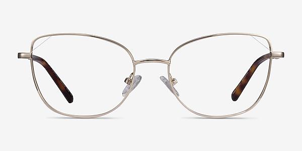 Moment Light Gold Metal Eyeglass Frames