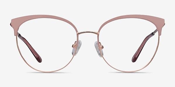 Gem Pink Rose Gold Metal Eyeglass Frames