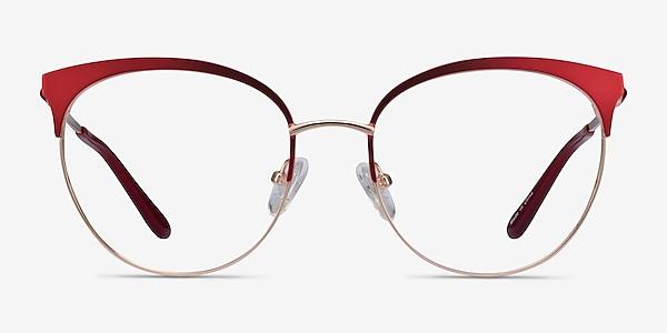 Gem Red Gold Metal Eyeglass Frames