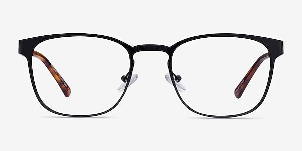 Bellamy Shiny Black Métal Montures de lunettes de vue