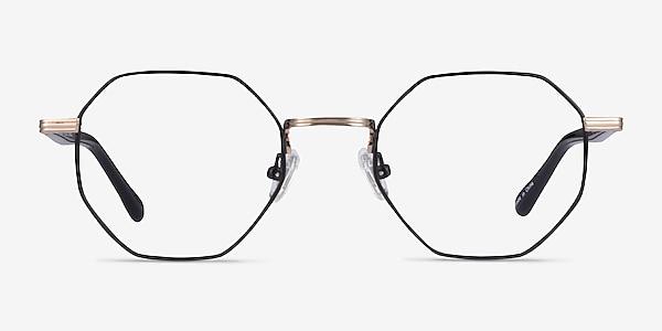 Music Black Gold Metal Eyeglass Frames