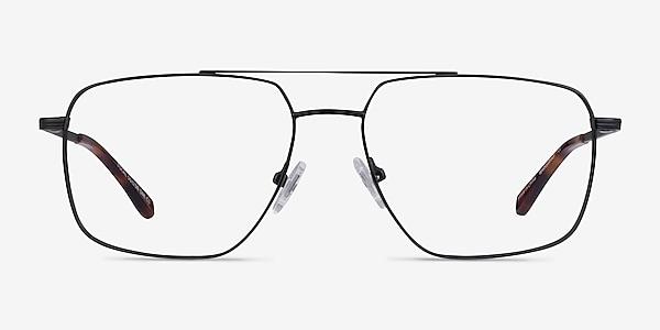 Focal Noir Métal Montures de lunettes de vue