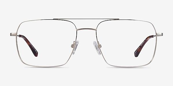 Aerial Argenté Métal Montures de lunettes de vue