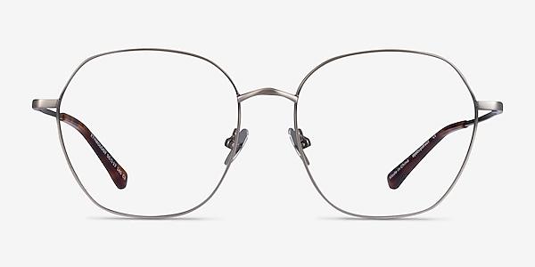 Etymology Brushed Gunmetal Metal Eyeglass Frames