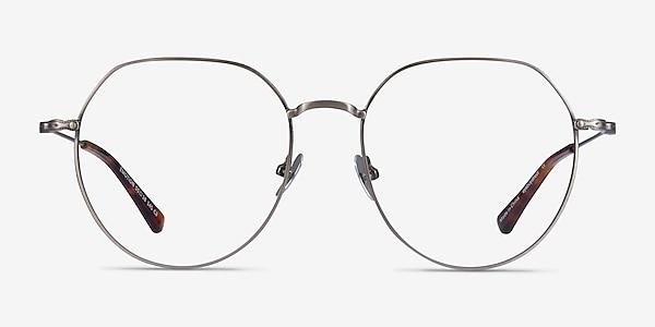 Emotion Brushed Gunmetal Metal Eyeglass Frames