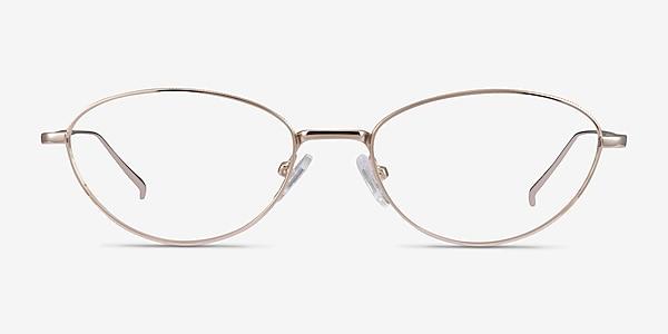 Feather Doré Métal Montures de lunettes de vue