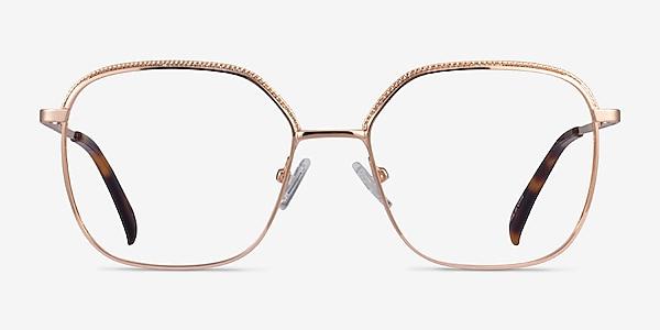 Chai Rose Gold Métal Montures de lunettes de vue