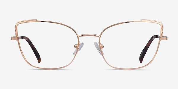 Exquisite Rose Gold Metal Eyeglass Frames
