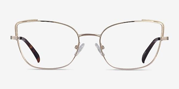 Exquisite Gold Metal Eyeglass Frames